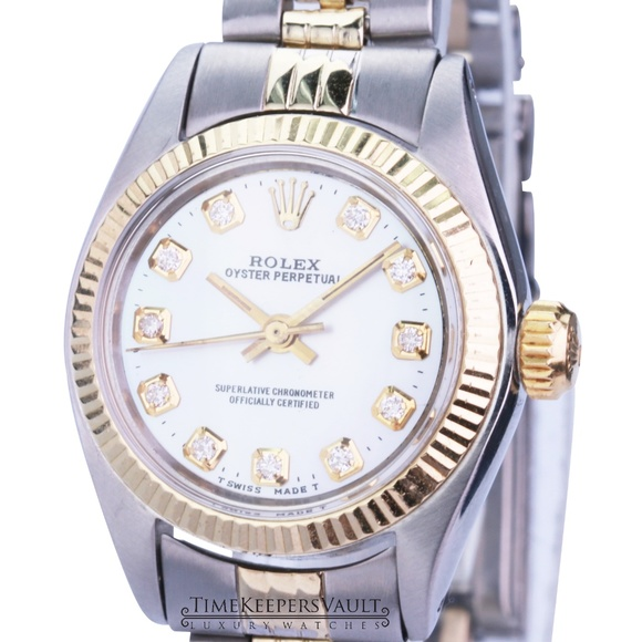 Rolex Accessories - Rolex Oyster Perpetual White MOP 24mm Watch